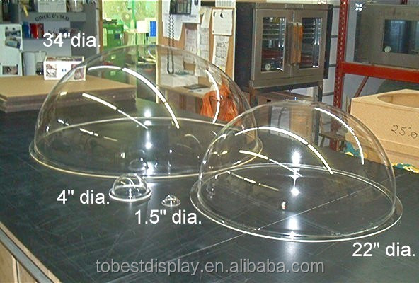 any size available shenzhen factory multi function clear acrylic dome/acrylic large plastic hemisphere dome with flange