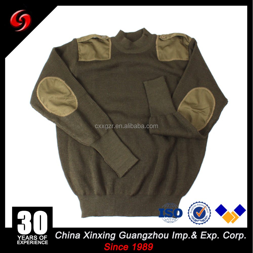 Custom make nigeria army military sweater wool pullover sale