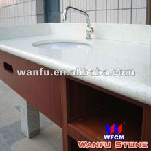 white granite seashell countertops