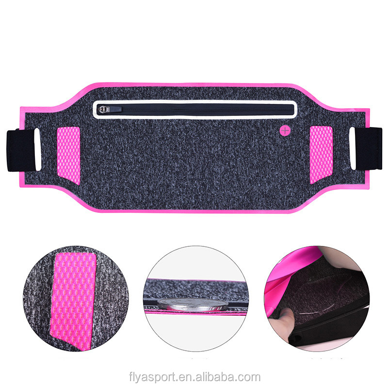 Thin lycra material portable waist pouch promotional waist pouch with customized design