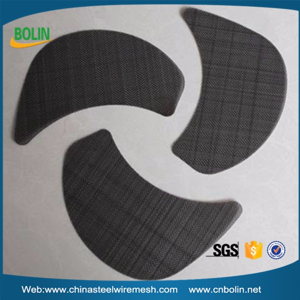 6''O.D. x 1-1/4'' 8 mesh Stainless steel wire cloth U shaped binding Metal Filter / Metal Strainer