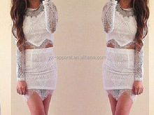 Sexy ladies new model dress & ladies fashion lace dresses