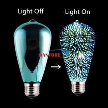 2017 New products Fancy Design Lamp RGB 3.5W ST64 3D Fireworks LED Bulb