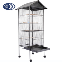 Top Roof Metal Large Bird Cage, Parrot Cage, Bird Aviary for Bird Flight and Breeding