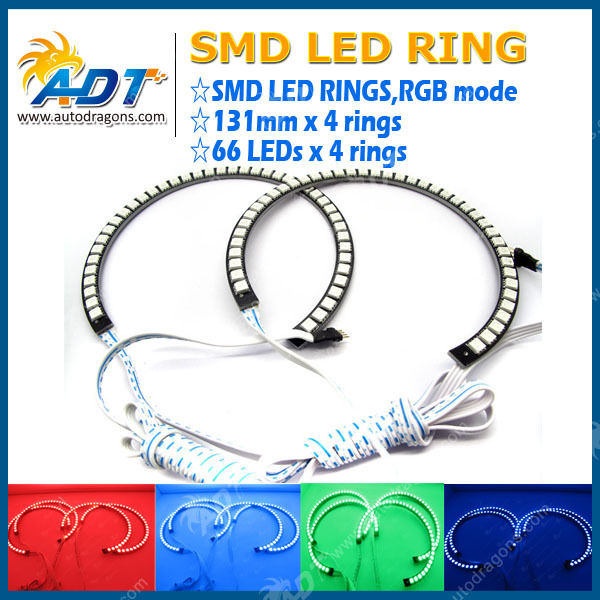 LED Angel Eyes E92 E93 Halo Rings For BMW 3 Series Headlights DTM Style