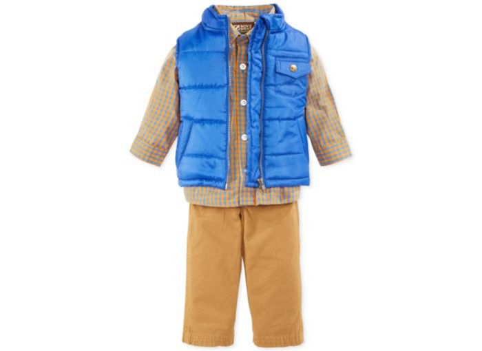 Korean Style Kid Boys Clothing Sets Winter Warm Cotton Child Clothes Of Online