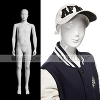 Plastic Children Mannequin,Glossy White Abstract Teenagers Manikin, Cheap White Model YKY01