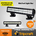 Super Bright ! 12v 24v 108w Led Light Bar ,offroad led bar light ,4x4 Led Work Light