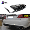 Mercedes E class W207 rear bumper carbon fiber AMG Look Diffuser for W207 AMG line model 2010 - 2013