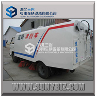 Made in china 4-10cbm Road Sweeper Truck with Cleaning Brushes and Water spraying Function