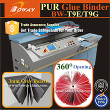 Built-in closed PUR heated glue system book binding machine