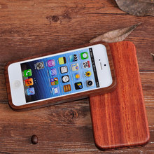 For iPhone 5S Walnut Wooden Case, Eco - Friendly/ Real Wood/ Custom Logo/ Handmade