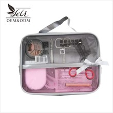 Portable makeup sets makeup tools and accessories small mirror eyelash curler eyebrow stencil eyebrow tools