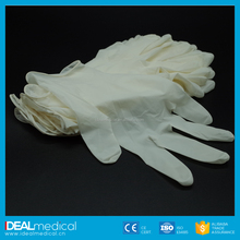 Powder free disposable latex examination gloves/Top Gloves
