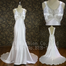 2016 Novelty Exotic Custom Made Casual Luxury Wedding Dress with Beaded Gir wedding wear west dress