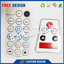 Waterproof High Sensitively Silicone Rubber Keypad 3M Membrane Switch