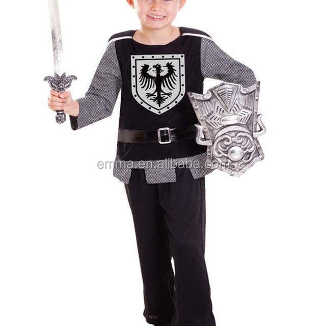 Age 3 to 6 Boys Medieval Knight Costume Kid Child Fancy Dress Toy Plastic Sword SA948