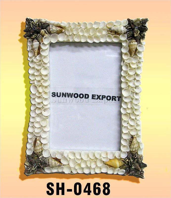 Rectangular Shell Picture Frame