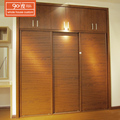 Custom cheap handmade 2 door wooden print melamine wardrobe sliding almirah