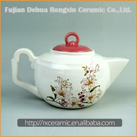Hot Sale Top Quality Best Price New Arrival plain white porcelain combined teapot cup