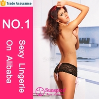 wholesale Hot sale Low rise lace tanga shorts night pictures of girls in panties and bra underwear