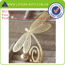 Factory Wholesale Beautiful Brass Etched Butterfly Bookmark