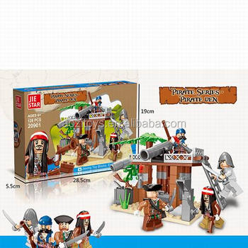 Pirate building blocks toys with diy toy