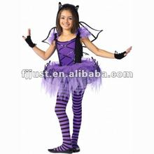Funny bat women puple halloween costume with wings
