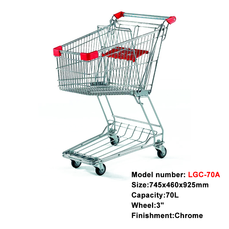 Wholesale Europea Styles Metal Supermarket Shopping Cart Trolleys