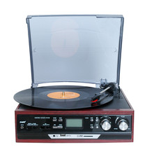 retro musical instruments turntable vinyl player with usb cd cassette