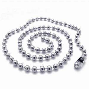 wenfanqi 2.4mm high polish necklace stainless steel ball chain