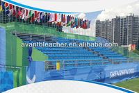 Professional Outdoor Metal Bleacher Seats with PP seating for sports stadium, racing tracks