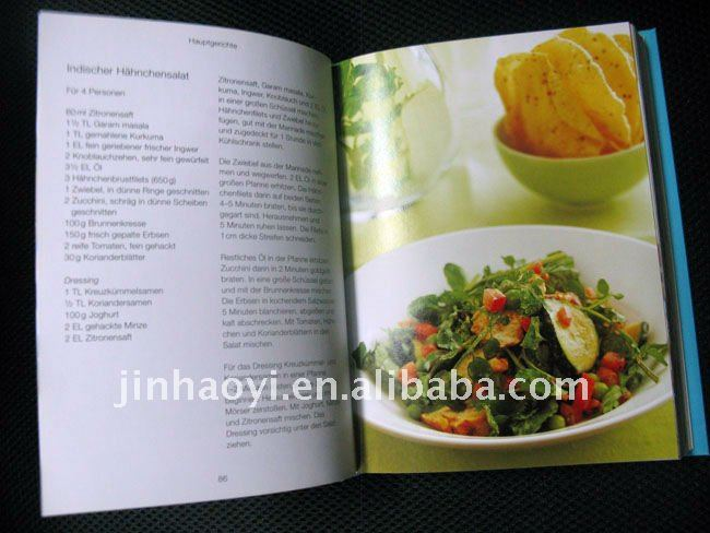 Cooking dishes Book Printing Service