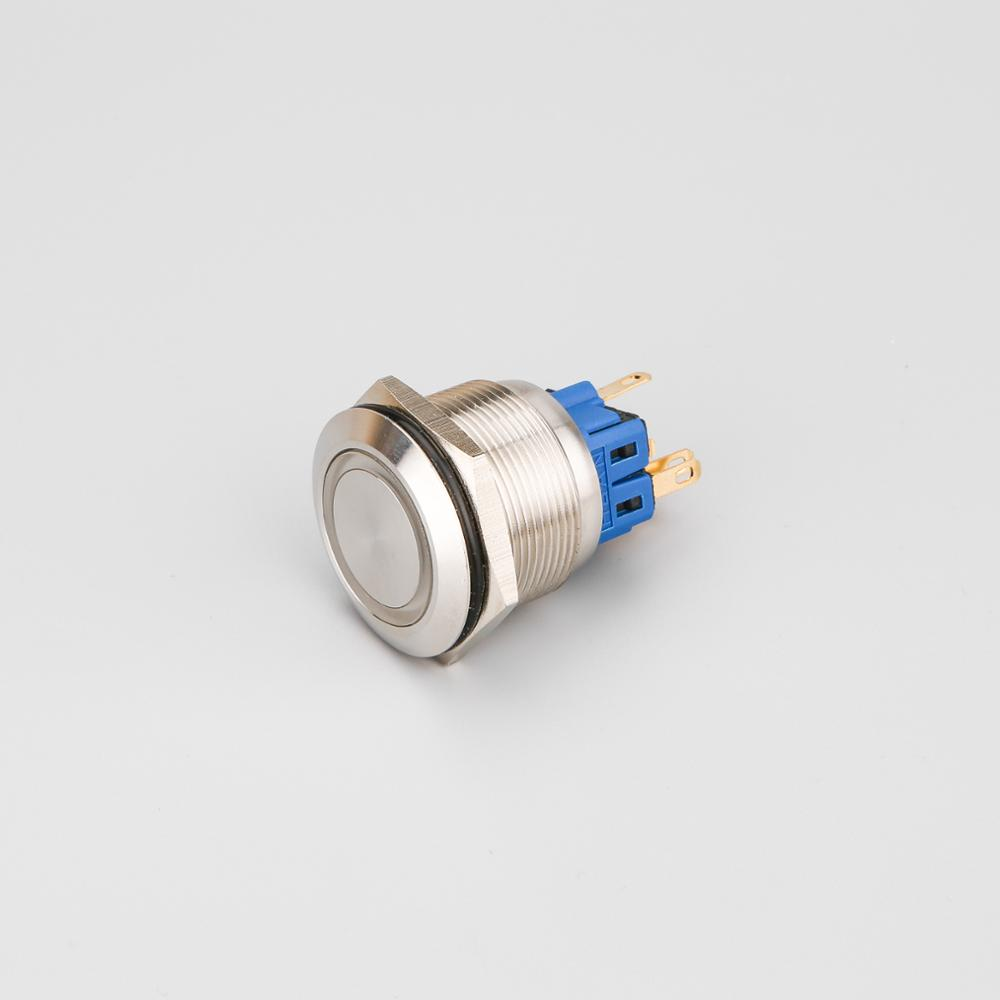 25mm 6 pins stainless steel led illuminated pushbutton switch