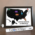 Scratch Off USA Map of USA for Tracking Travel with State Images 18x24inch Scratch Tool Included AMA-56