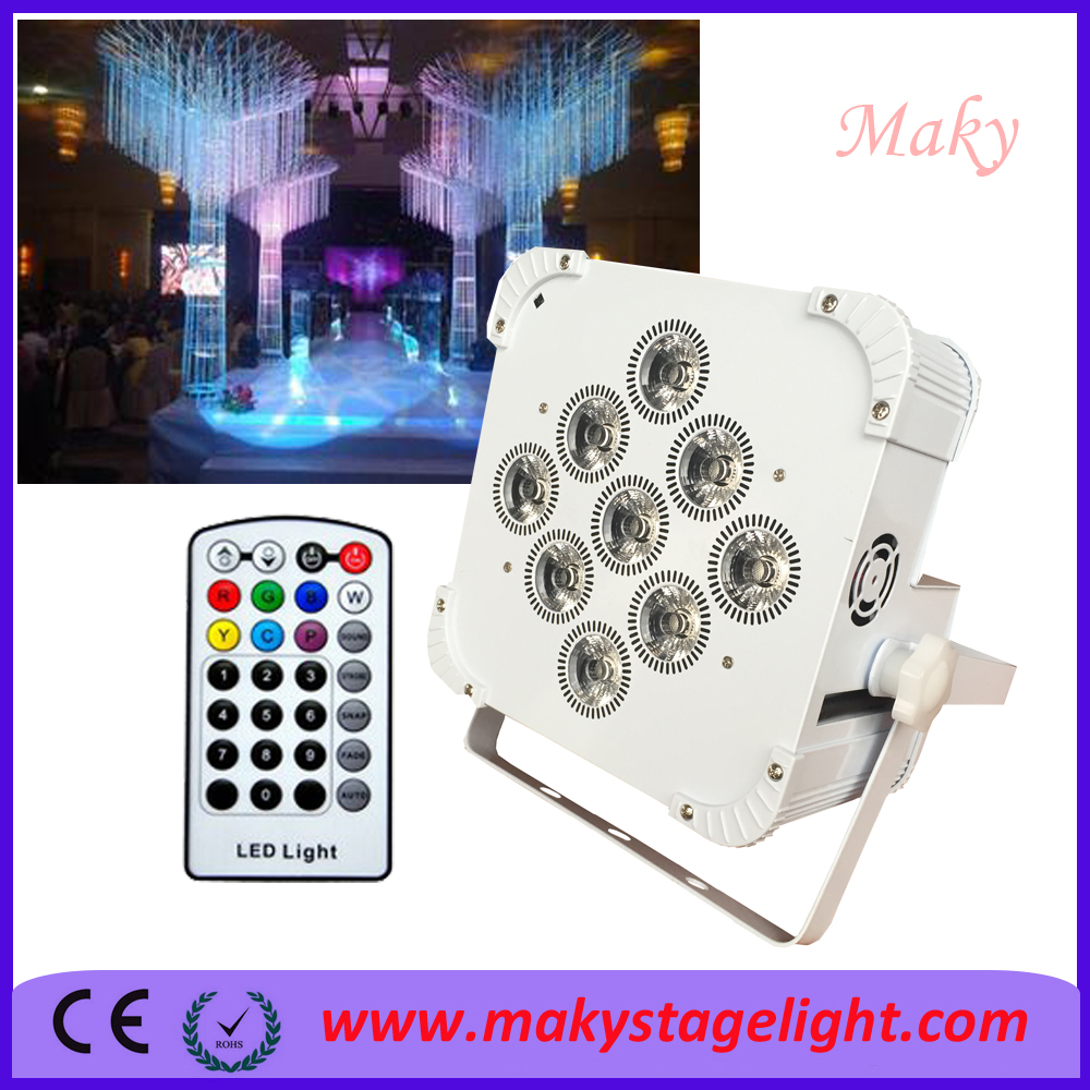 Stage Lighting Equipment 9*18w Led Battery Power Wireless DMX Par Lights RGBWA UV 6IN1 For Disco Wedding Party Up Light