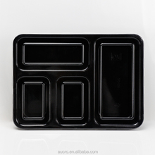 disposable plastic 4-compartment bento lunch box food container