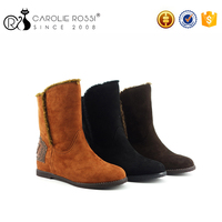 Female Australia Lady Fashion Keep Warm Sheepskin Wool Winter Snow Boots Design Women's Luxury Shoes