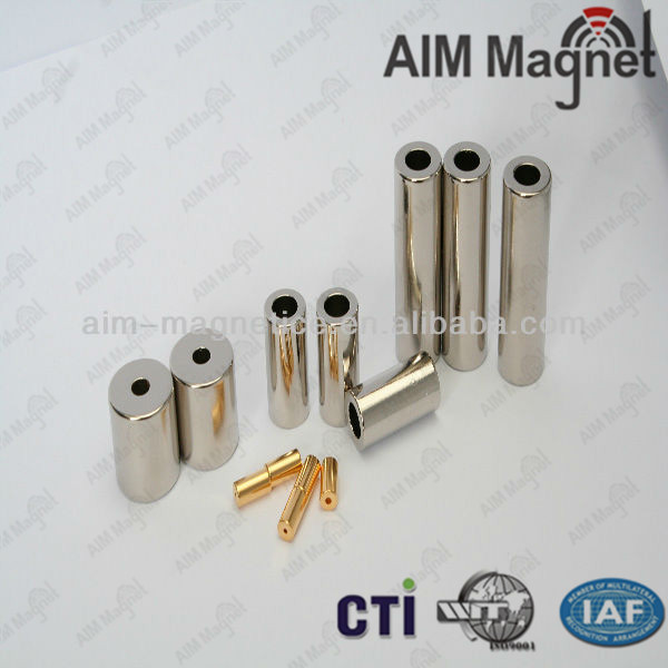 Long countersunk neodymium magnet for radiator magnetic filter