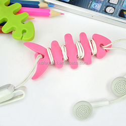 Mobile phone commonly used accessories wiring accessories TPR cartoon earphone cable wire cord organizer