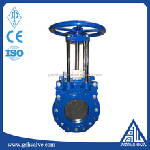 manual GGG40 Knife gate valve with non-rising stem