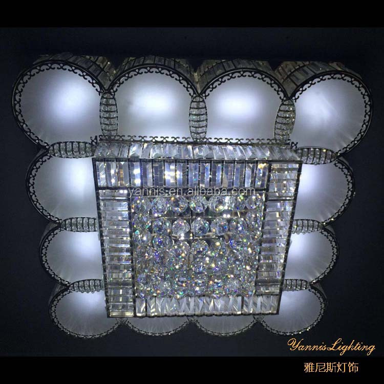 new desig crystal ball ceiling lamp <strong>modern</strong> ,celing crystal ball light LED ,square ceiling lamp