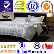 Hilton Group hotel satin stripe bed sheet