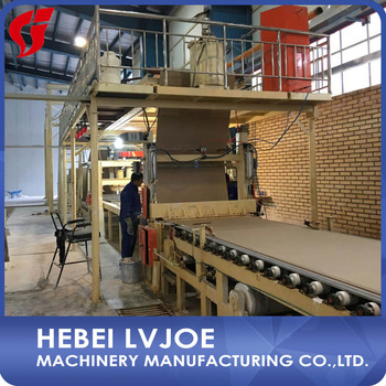 production line of plaster of paris board