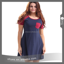 New arrival casual maternity sport dress for fat women