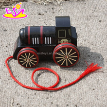 2016 new design kids wooden toy locomotive,fashion children wooden toy locomotive,baby wooden toy locomotive W05C041