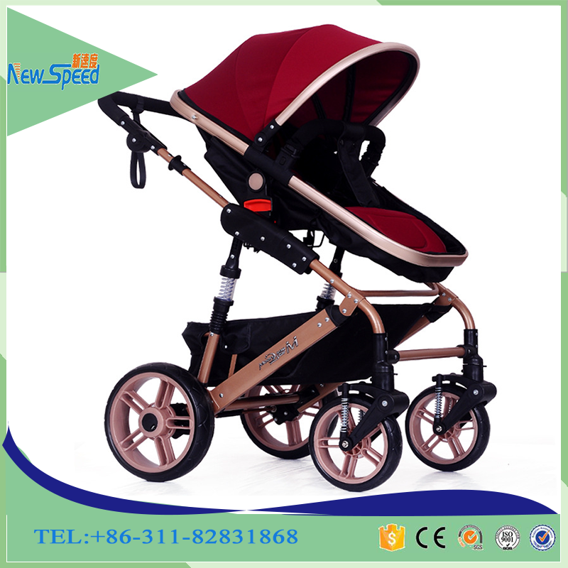 Germany Standard High Landscope Luxury Baby Stroller 3 in 1 with Excellent Damping System Prams Made in China