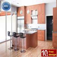 Customized design special kitchen widely use particle board carcass solid wood swing door panel kitchen cabinets