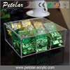 organizer Food Container Feature and Food Use lucite tea bags trays storage 6 pocket tea bag acrylic tea box with lid