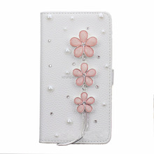 Bling Diamond Wallet Cover PU Leather 3D Phone Case For Samsung Galaxy Note 5 N920